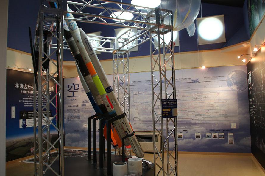 2018年4月にリニューアルした大樹町多目的公園内の「大樹町宇宙交流センターSORA」では、大樹町で打ち上げたロケットの実機4機を展示。