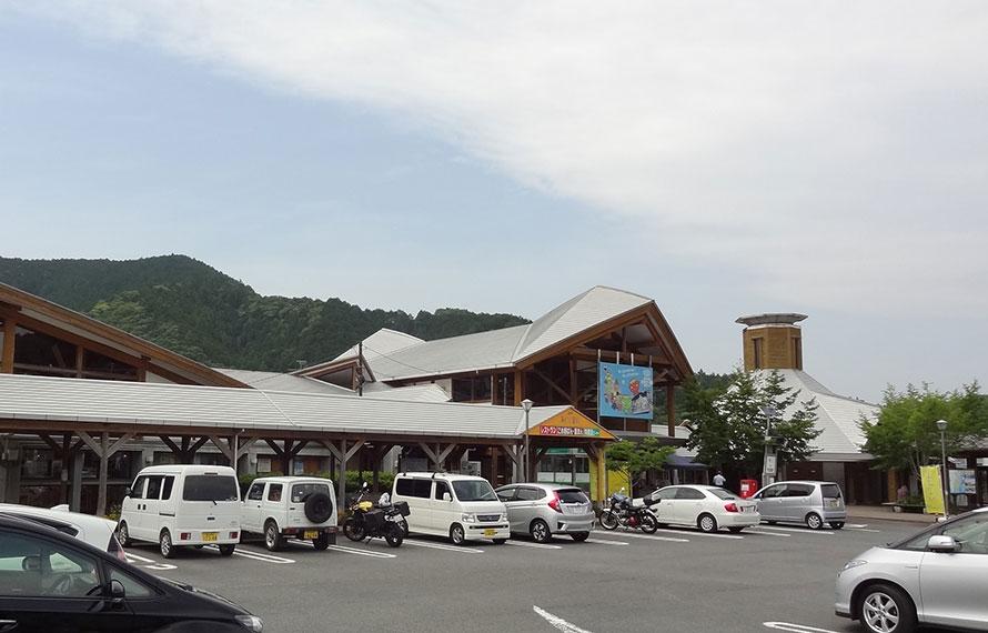 国道56号線沿いにある道の駅「あぐり窪川」。季節に合わせたイベントも随時開催。