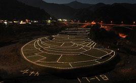 棚田を幻想的にライトアップ!あらぎ島イルミテラスへドライブ 和歌山県有田川町