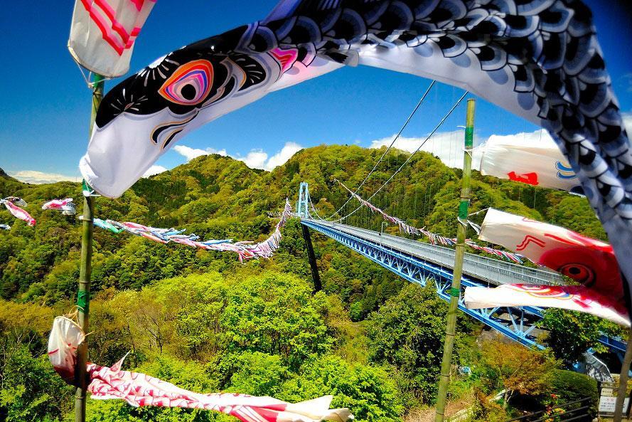 壮観!青空に1000匹もの鯉のぼりが舞う竜神峡へドライブ 茨城県常陸太田市