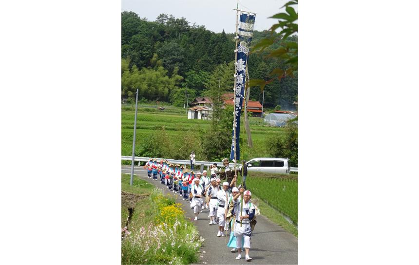 呪術効果を高めるために行われた虫送り踊りは、北広島町の中でも川戸地区で行われていたという。