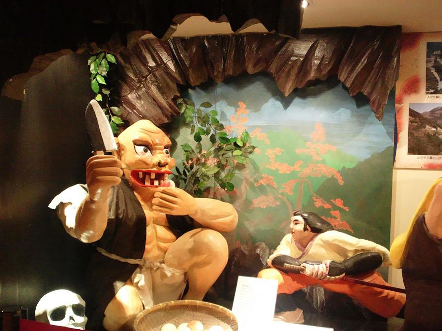 多くの妖怪伝説が語り継がれてきた山城町。写真はヤマジチと呼ばれる怪力の大男。