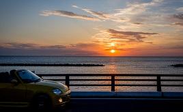 海と夕日が美しい!絶景一望の淡路サンセットラインをドライブ 兵庫県洲本市
