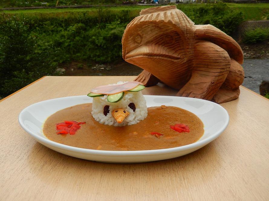 館内の「かっぱ亭」で食べられる「かっぱカレー」は500円(税込)。来館者のおもてなしの意味で安価で提供。