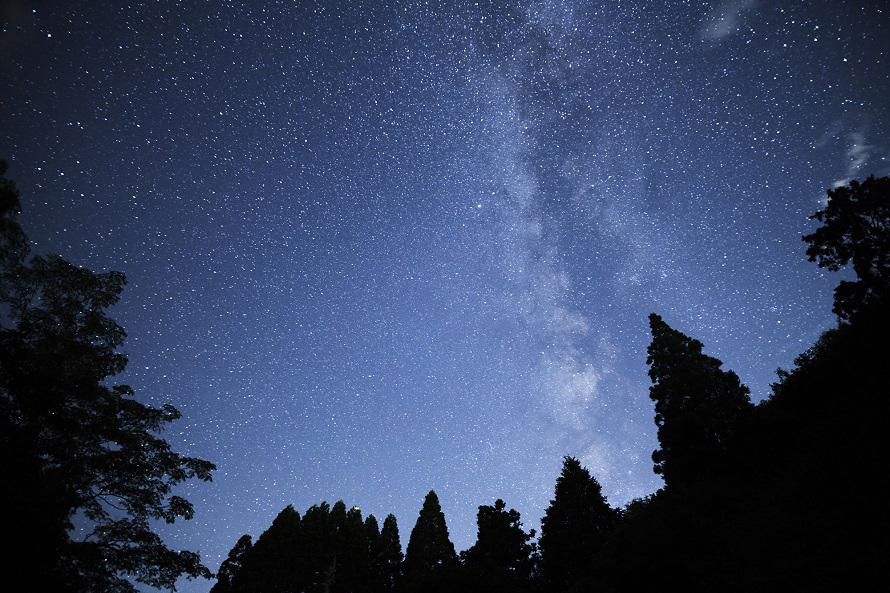 写真提供:福岡県観光連盟自然豊かな星野村。澄み切った空気の中、美しい星空を観賞できる。