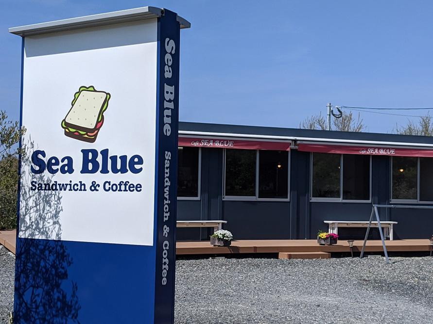 店名の「Sea Blue」は、オーナーの好きな色にちなんだもの。
