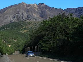 絶景ドライブルート 桜島の北岳に迫るワインディングロード 鹿児島県鹿児島市