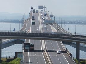 絶景ドライブルート 360度のパノラマが広がる東京湾横断道路 千葉県木更津市