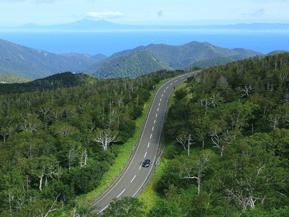 絶景ドライブルート 知床半島を横断するワインディングロード 北海道斜里町