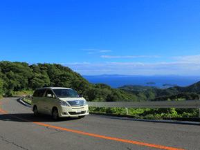 絶景ドライブルート 三河湾を眼下に望むあじさいライン 愛知県東幡豆町