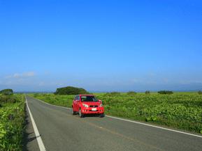 絶景ドライブルート 日本三大湿原の中を走る快走路 北海道豊富町