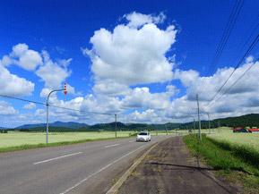 絶景ドライブルート 日本一の規模を誇るそばロード 北海道幌加内町