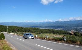 絶景ドライブルート 伊那谷と南アルプスを望むローカルロード 長野県高森町