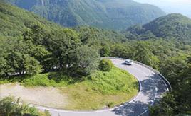 絶景ドライブルート 48ものカーブがあるワインディングロード 栃木県日光市