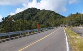 絶景ドライブルート 中禅寺湖と男体山を望む展望台へ続く道 栃木県日光市