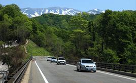 絶景ドライブルート 湯殿山ICと月山ICを結ぶ絶景バイパス道路 山形県鶴岡市