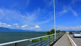 絶景ドライブルート びわ湖東岸を南北に走る快適ロード 滋賀県草津市