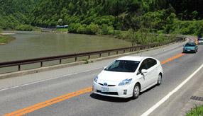 絶景ドライブルート 日本三大急流沿いのリバーサイドロード 山形県戸沢村