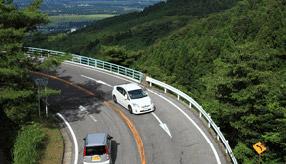 絶景ドライブルート 筑波山中腹へのワインディングロード 茨城県土浦市