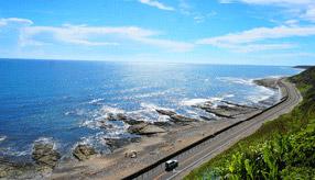 絶景ドライブルート 陽光眩しい大海原が広がるシーサイドロード 静岡県御前崎市