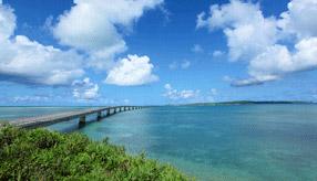 絶景ドライブルート 青い海を無料で渡れる、日本一長い橋 沖縄県宮古島市