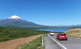 絶景ドライブルート 富士山と山中湖を望むビューロード 山梨県山中湖村