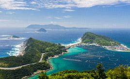 絶景ドライブルート 「舟が浮かんで見える」海がある島への快走路 高知県大月町
