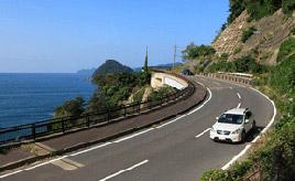 絶景ドライブルート 三方湖と若狭湾に沿って走る風光明媚な区間 福井県若狭町