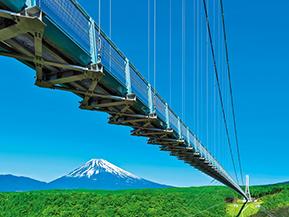 富士山の絶景を望むスリリングな吊橋!三島スカイウォークへドライブ 静岡県三島市