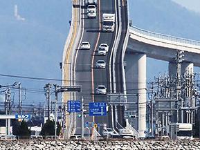 急勾配の「ベタ踏み坂」はココ!江島大橋へドライブ 鳥取県境港市~島根県松江市