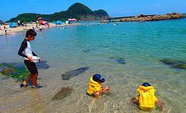 白い砂浜と遠浅の海は海水浴にぴったり!竹野浜海水浴場へドライブ 兵庫県豊岡市