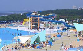 プール&海水浴どちらも楽しめる!稲毛海浜公園プールへドライブ 千葉県千葉市