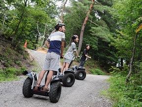 セグウェイで山道の散策に出かけよう!冒険の森 in やまぞえへドライブ 奈良県山添村