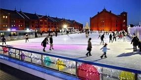 冬のきらめきとアートが彩る!横浜赤レンガ倉庫でアイススケート 神奈川県横浜市