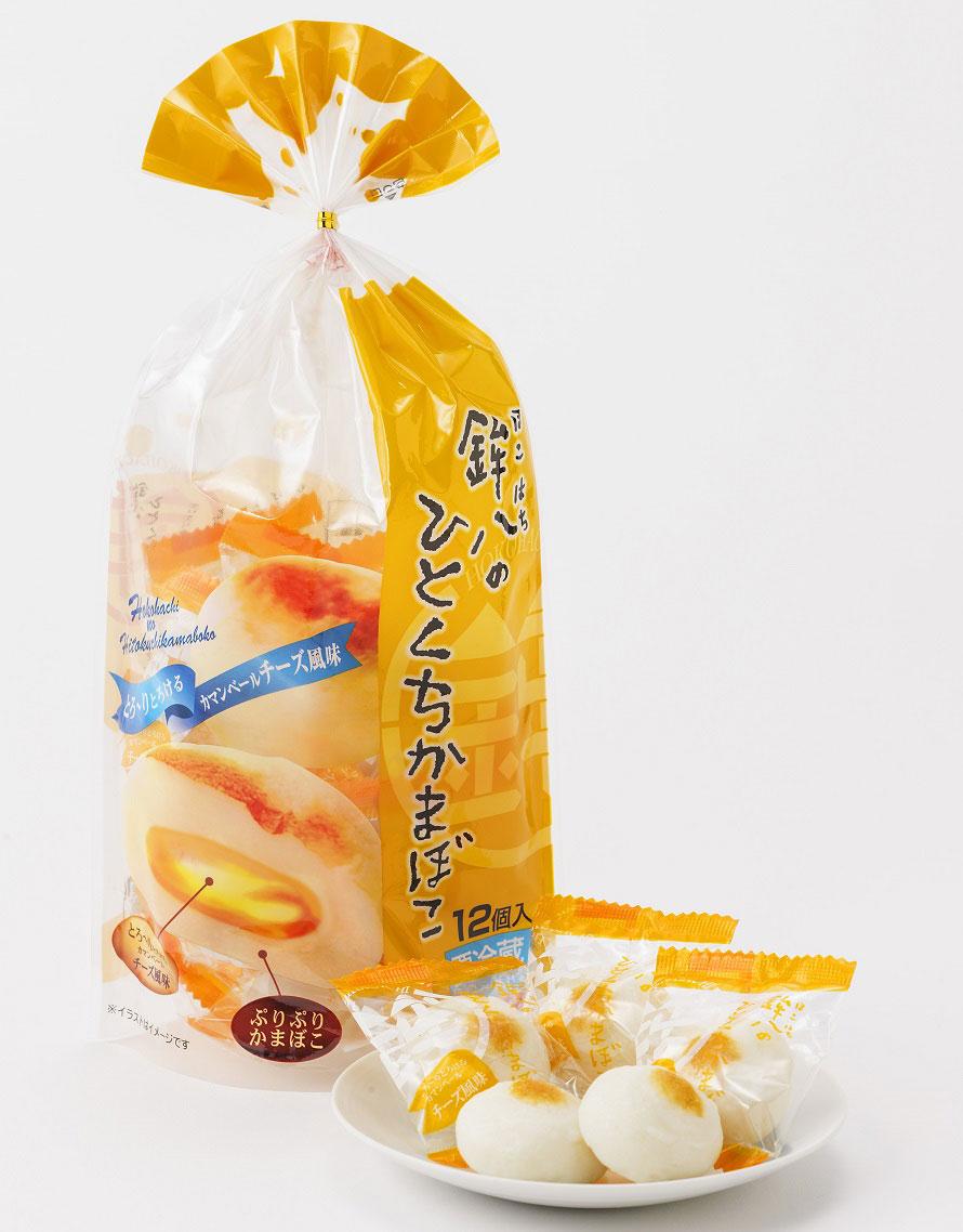 「沼津・村の駅」のおすすめのお土産のひとつ、「鉾八のひとくちかまぼこ」12個入り700円(税込)。車の中で食べやすい個包装のかまぼこで、お土産やおつまみに人気だ。