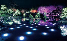 120万球のイルミネーションで光輝く庭園!「由志園」のニューイヤーイルミネーションへ行こう 島根県松江市