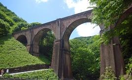 レンガ造りの橋がノスタルジーを誘う!ハイキングも楽しめるめがね橋 群馬県安中市