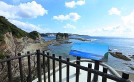 白浜のシンボル・円月島を裏から眺める絶景スポット!自然あふれる国立自然公園へドライブ 和歌山県白浜町