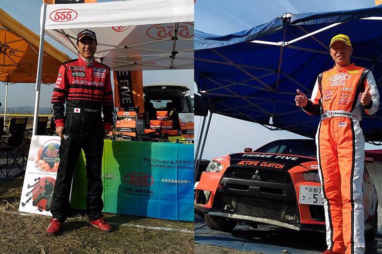 奴田原選手(左)福永選手(右)今シーズンの全日本ラリー選手権を盛り上げる