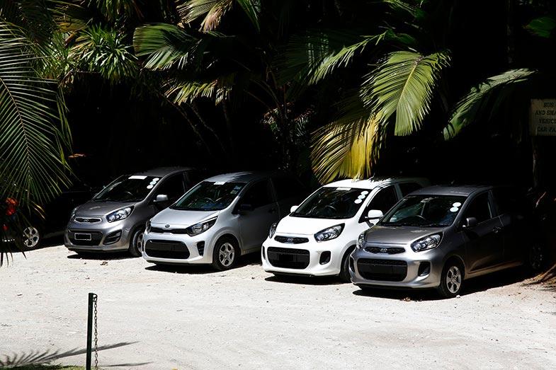 KIA・ピカントやヒュンダイ・i10の新車が多かったのが印象的。日常の足にはコンパクトな5ドアが人気だ