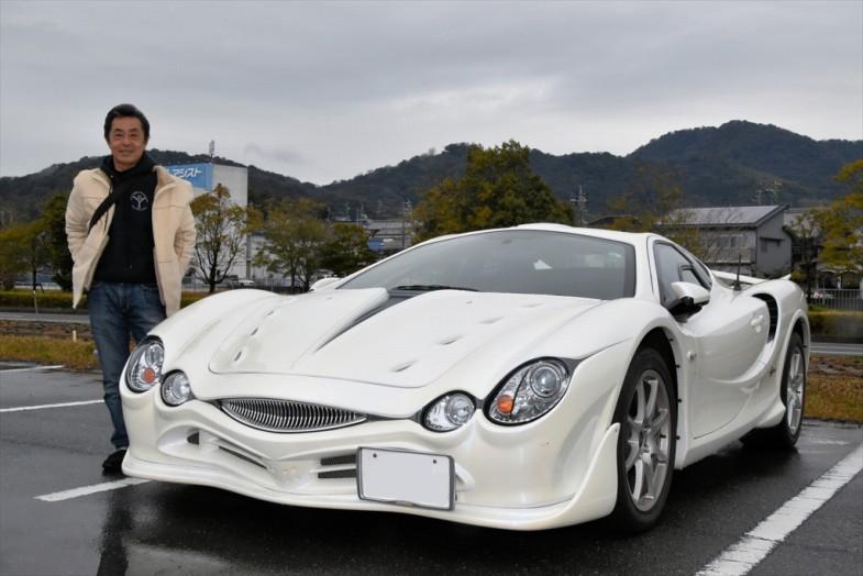 宮川和明さんはミツオカ・オロチで登場! 日産を定年退職して自由の身(?)なったその反動でオロチを選んだとか(笑)