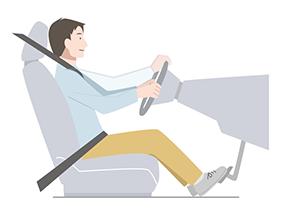 クルマの運転の基本 ~正しいドライビングポジション~