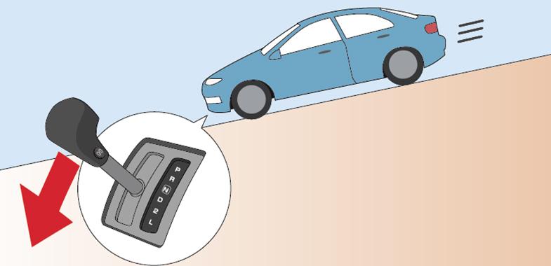 「下り坂 ブレーキ」の画像検索結果