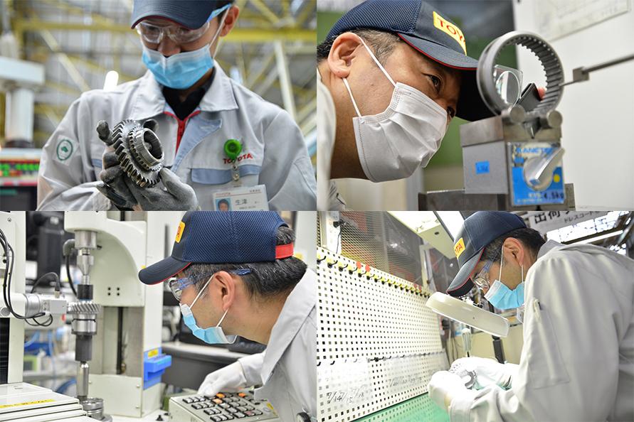 最新の設備で精密な品質チェックを行っているが、各製造工程にて熟練の職人による経験則と目視によるチェックが欠かせない