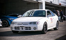 【西日本GR走行会 愛車紹介】ディーラーメカニックが初愛車として選んだのはシビックキラーを目指すAE111レビン