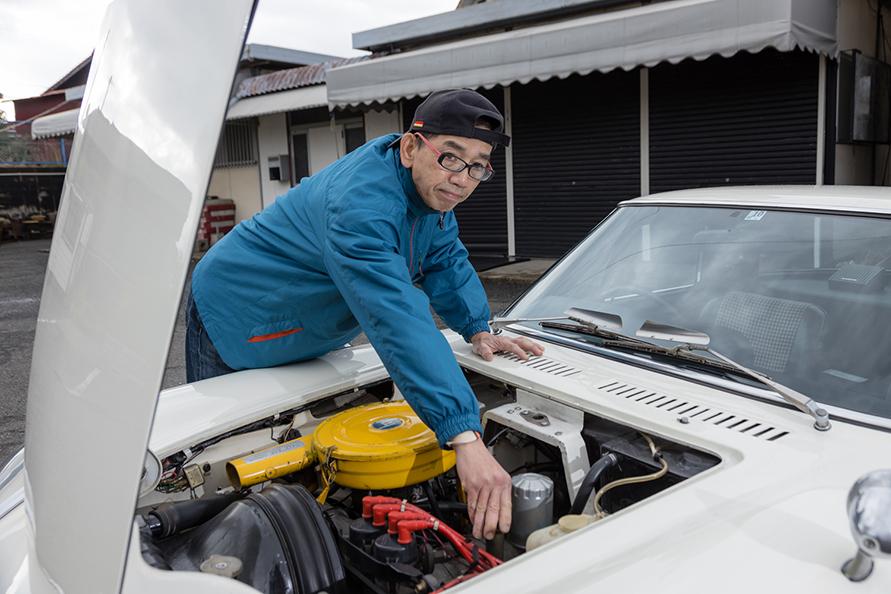 オイルや冷却水の確認程度は自身でも行うが、メンテナンスは山口県のカーサービス・マエダにお任せしている。「定期的にしっかり整備しておけば、意外と壊れないモノですよ」。