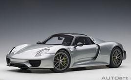 """限定生産 """"918台"""" の次世代スーパースポーツカー~ ミニカー「1/18スケール ポルシェ 918 スパイダー」"""