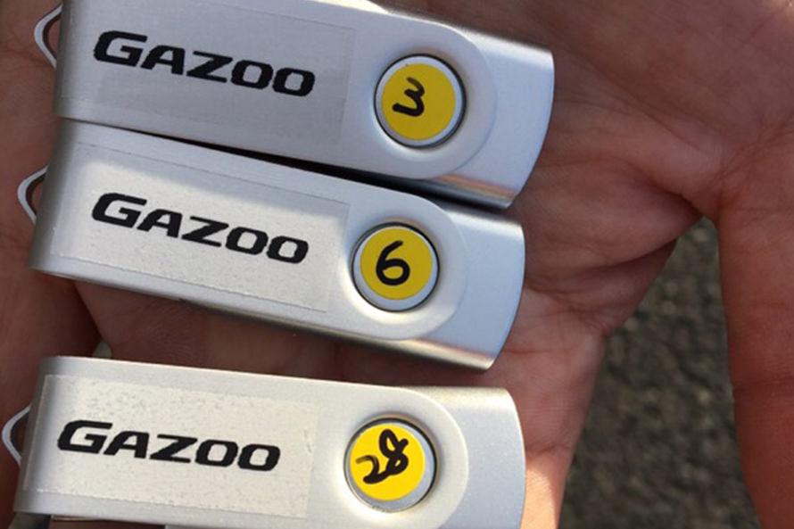 撮影したデータは、GAZOOロゴ入り(!?)USBに保存してプレゼント!(参加者多数のため、抽選とさせて頂きました)