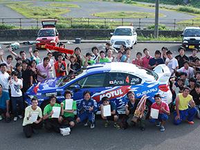 ラリードライバーの新井敏弘選手もゲストで登場!北陸で開催の学生ジムカーナ大会