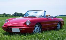 2年の歳月を掛けて甦った彼女の愛車は、1991年式アルファロメオ・スパイダー ヴェローチェ Sr.4